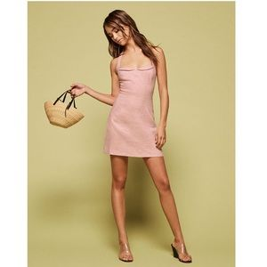 Reformation Rina Blush Pink Halter Mini Dress